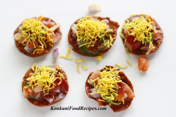 Tangy, Spicy, Sweet Canapes (Tikki Puris)