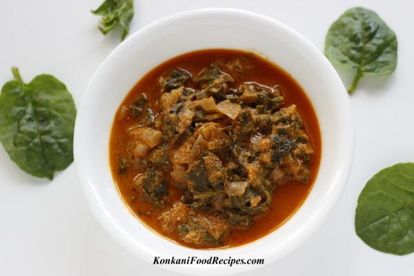Malabar Spinach Masala (Vali Sukke)