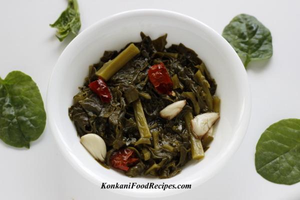 Malabar Spinach Stir Fry (Vali Upakari)