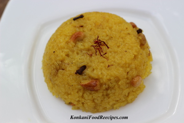 Sweet Saffron Rice (Rice Kesaribhath, Sheera)