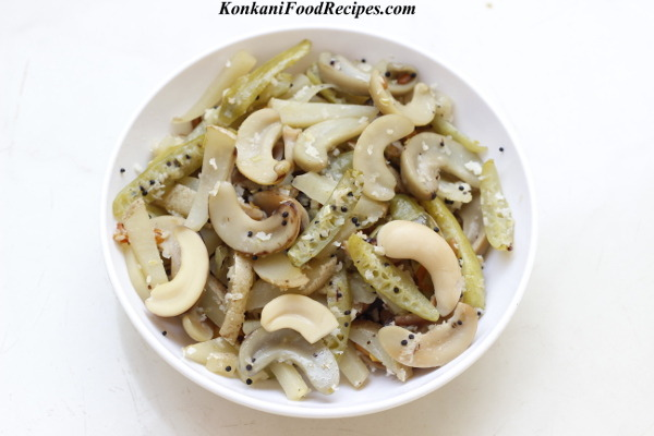 Tender Cashewnut Side Dish (Bibbe upkari)