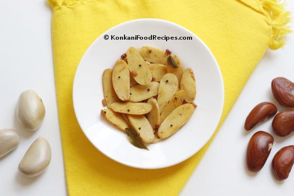 Jackfruit Seed Stir Fry Recipe (Bikanda Upakari)