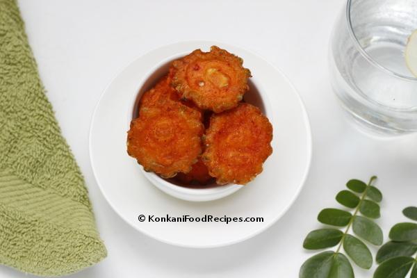Bitter Gourd Fritters Recipe (Karathe Bajo)
