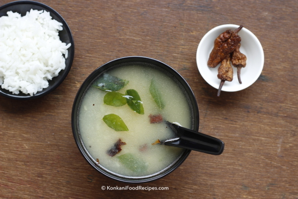Potato Rasam Recipe (Batate Thoy)