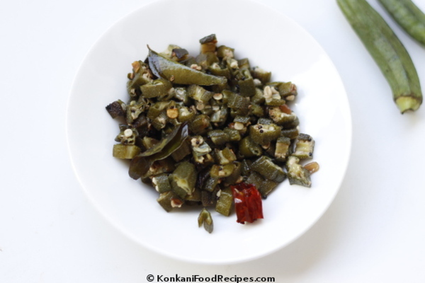 Lady's Finger/Okra Stir Fry Recipe (Benda Upkari)
