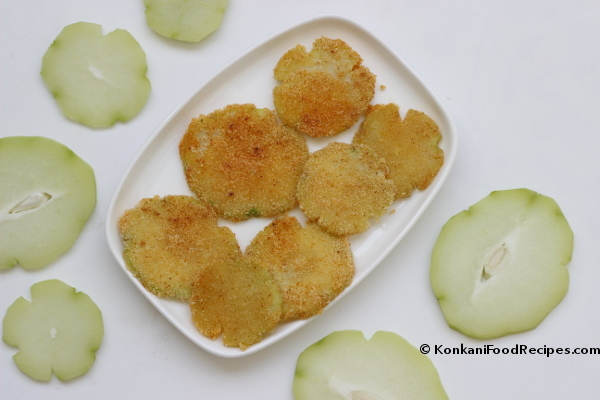 Pan Fried Chayote Squash (Chow chow/Seemebadnekai Phodi Recipe)