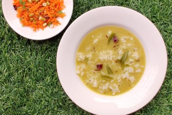 Konkani Style Green Gram Saaru (Varn Recipe)