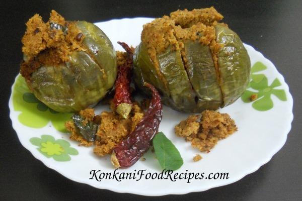Stuffed Brinjal/Eggplant Konkani Style (Gulla Sagle)