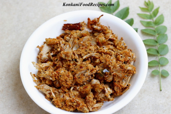 Raw Jackfruit Sukka/Dry Masala Recipe (Kadge Chakko)